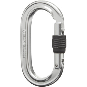 Black Diamond Oval Keylock Screwgate Biner polished